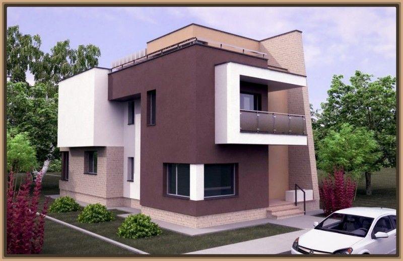Modelos de fachadas de casas modernas de dos pisos Casas - casas minimalistas