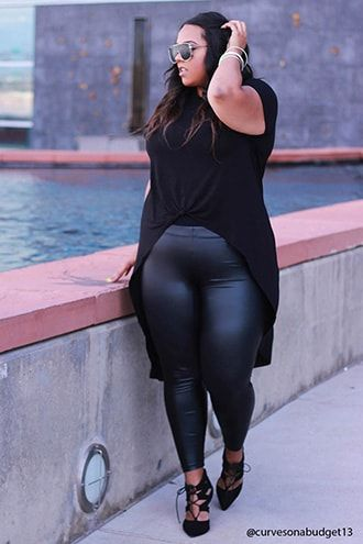 04283d6ee255f Plus Size Faux Leather Leggings in 2019 | Beautiful Being Plus Size ...