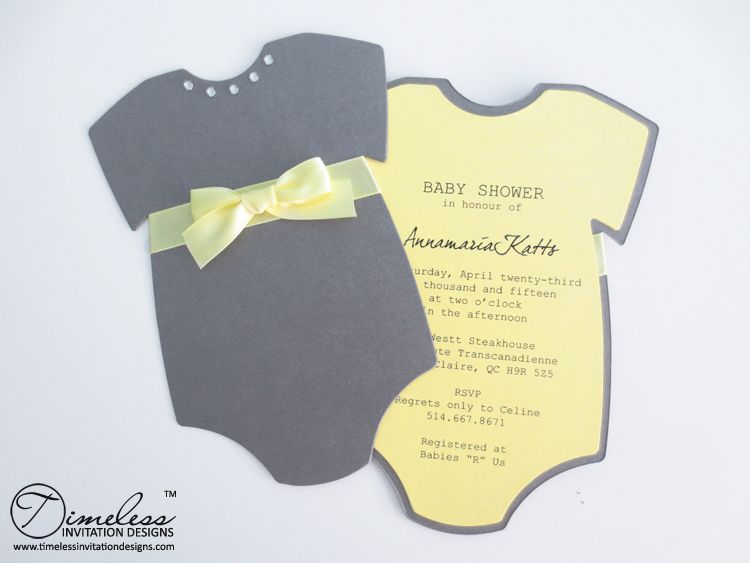 Montreal Baby Shower Onesie Invitation Img  Baby Shower