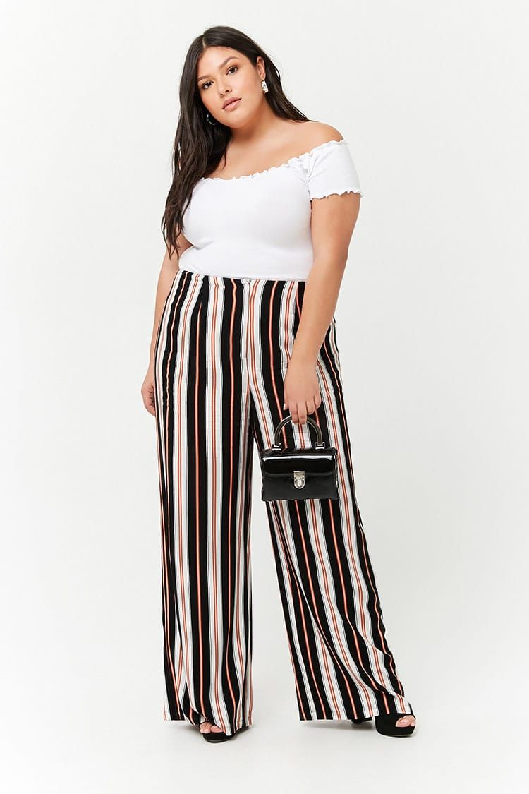 f9d7c2d95729 Product Name:Plus Size High-Rise Stripe Palazzo Pants,  Category:plus_size-main, Price:22.9. Forever 21 Ropa ...