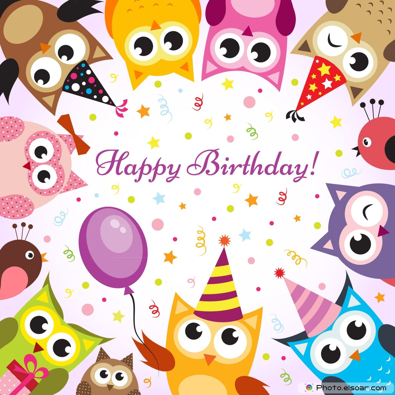 22 Happy BirthDay Cards on Bright Backgrounds