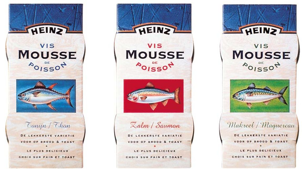 Read more: https://www.luerzersarchive.com/en/magazine/print-detail/4421.html Packaging for canned fish. Tags: Millford-Van den Berg Design, Wassenaar, Holland,Esther Baas,Erik De Graaf,Hans Reisinger,H. J. Heinz B. V.