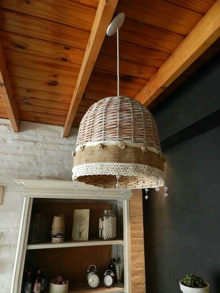25 parasta ideaa pinterestiss lamparas de mimbre for Lamparas para patios exteriores