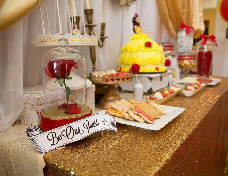 """Princess Belle Birthday Party Decorations Alluring Belle  Beauty And The Beast  Birthday """"belle Theme First Decorating Inspiration"""