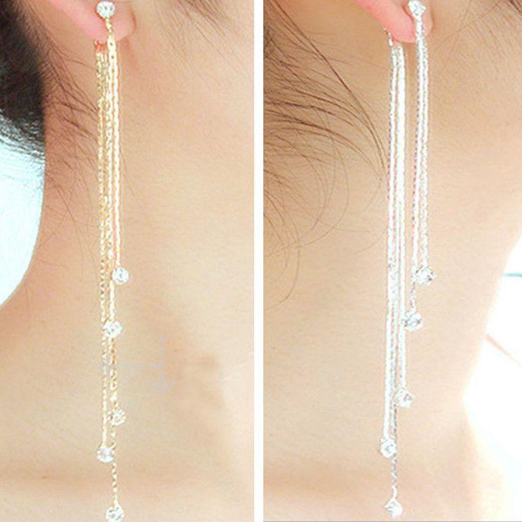 Cheap long tassel earrings, Buy Quality tassel earrings directly from China  tassel earrings for women Suppliers: New Fashion 5 Chain Gold Silver Long  Tassel ...