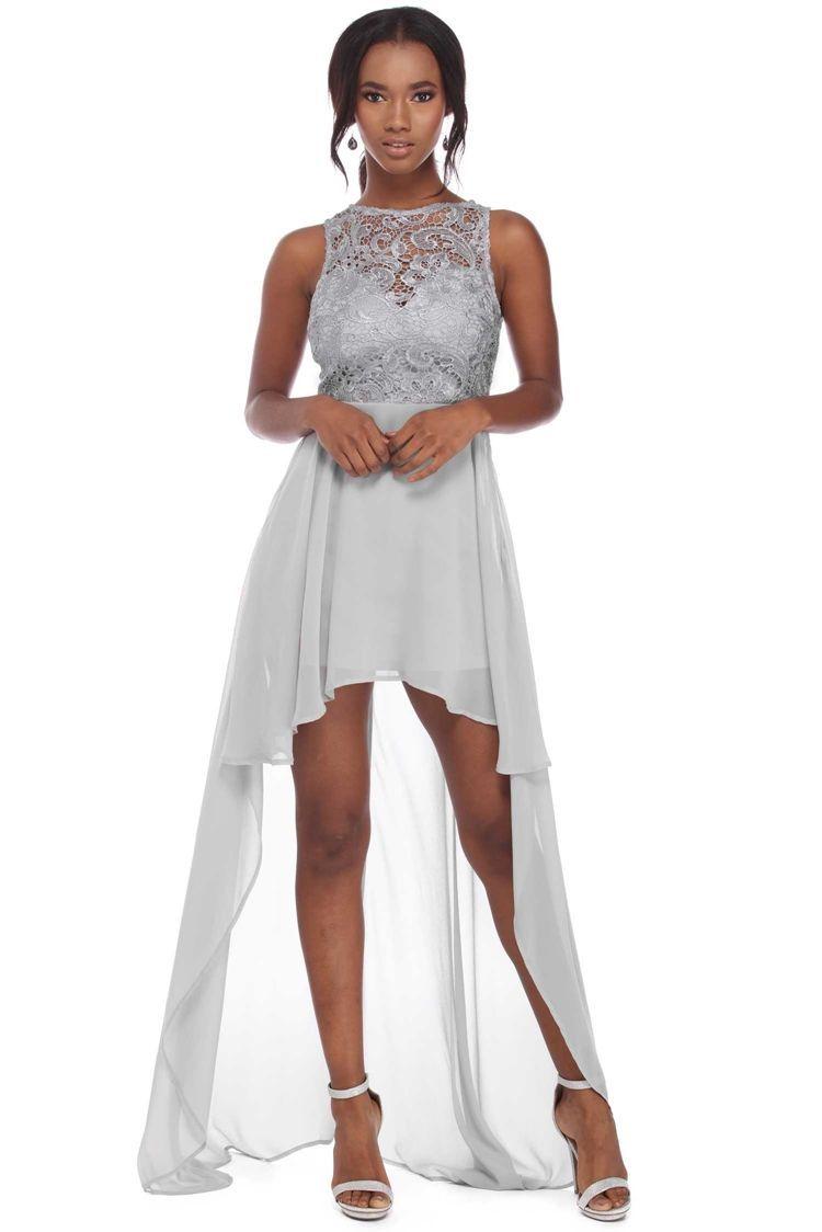 Tula gray crochet chiffon dress prom dresses pinterest chiffon
