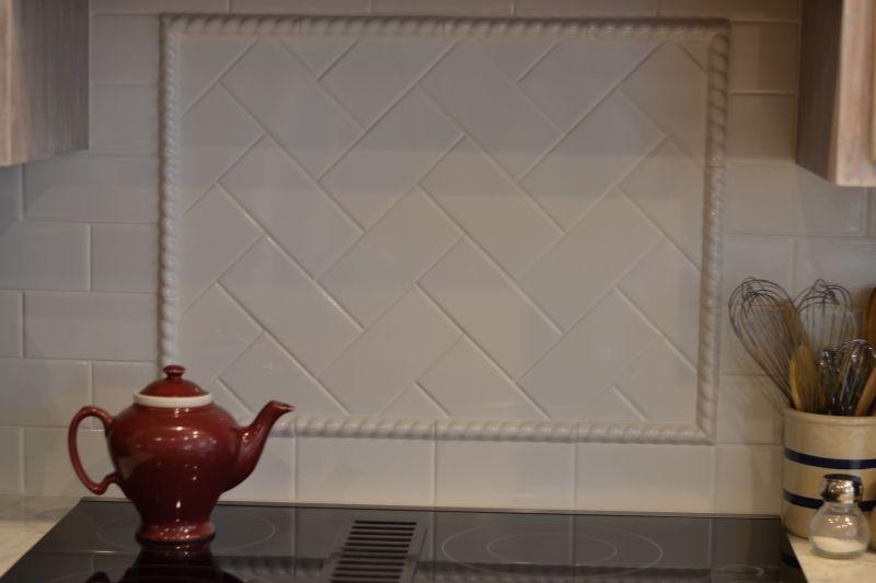 Classic tile backsplash.