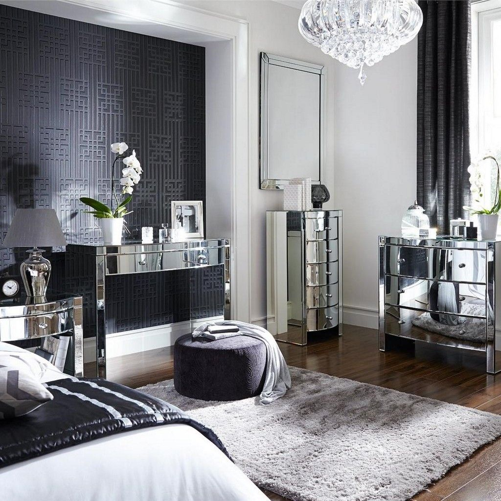 Curved Mirror Finish Bedroom Furniture Mirrored Furniture Mirrored Bedroom Furniture Bedroom Sets For Sale