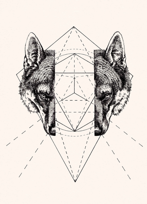 Geometric Wolf by Peter James Carrington | ☱ ILLUSTRATION ...