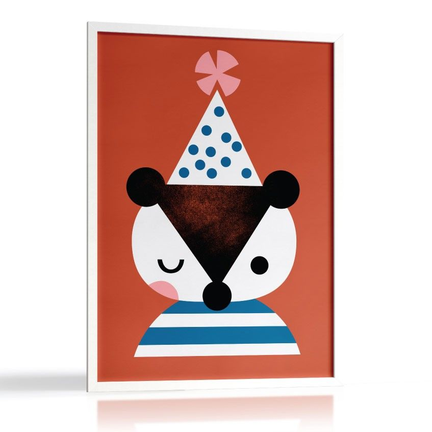 Pantomime Badger Bear art poster, printed on high quality paper. 28 ...