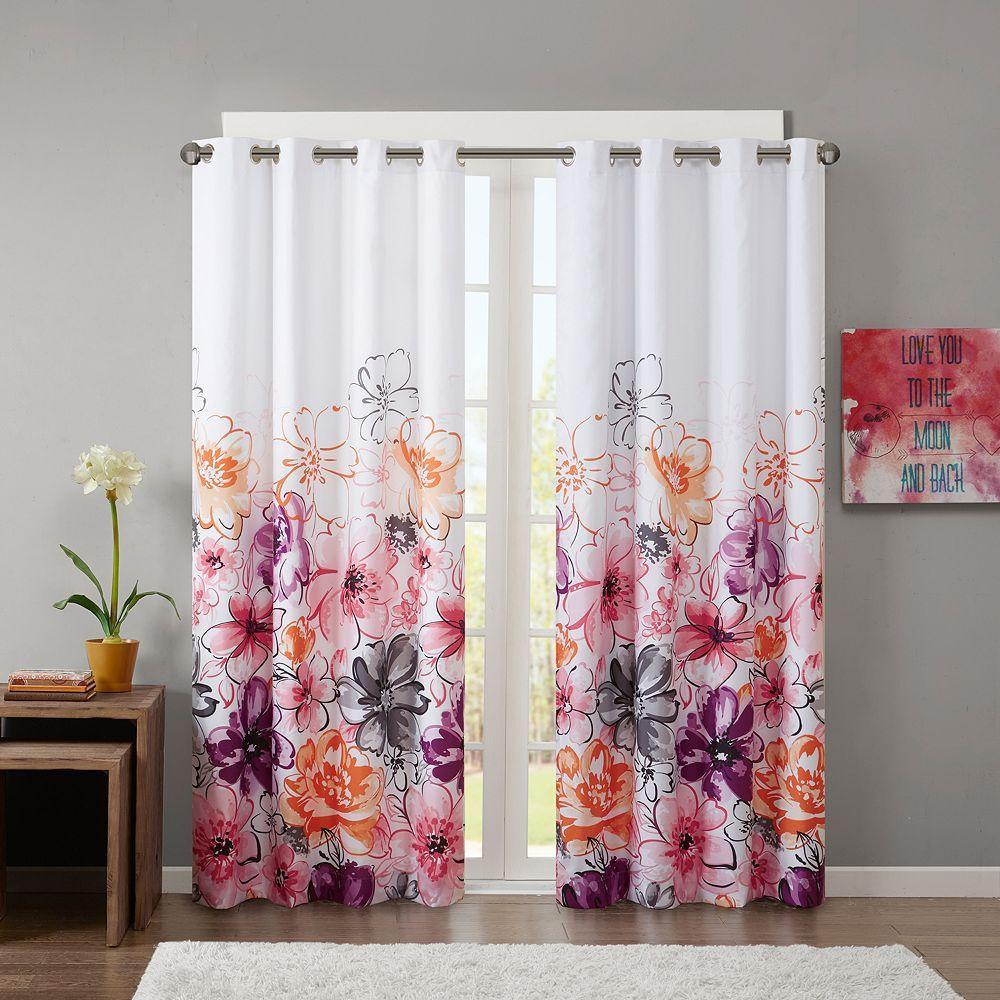 Intelligent Design Cassidy Blackout Curtain, Pink