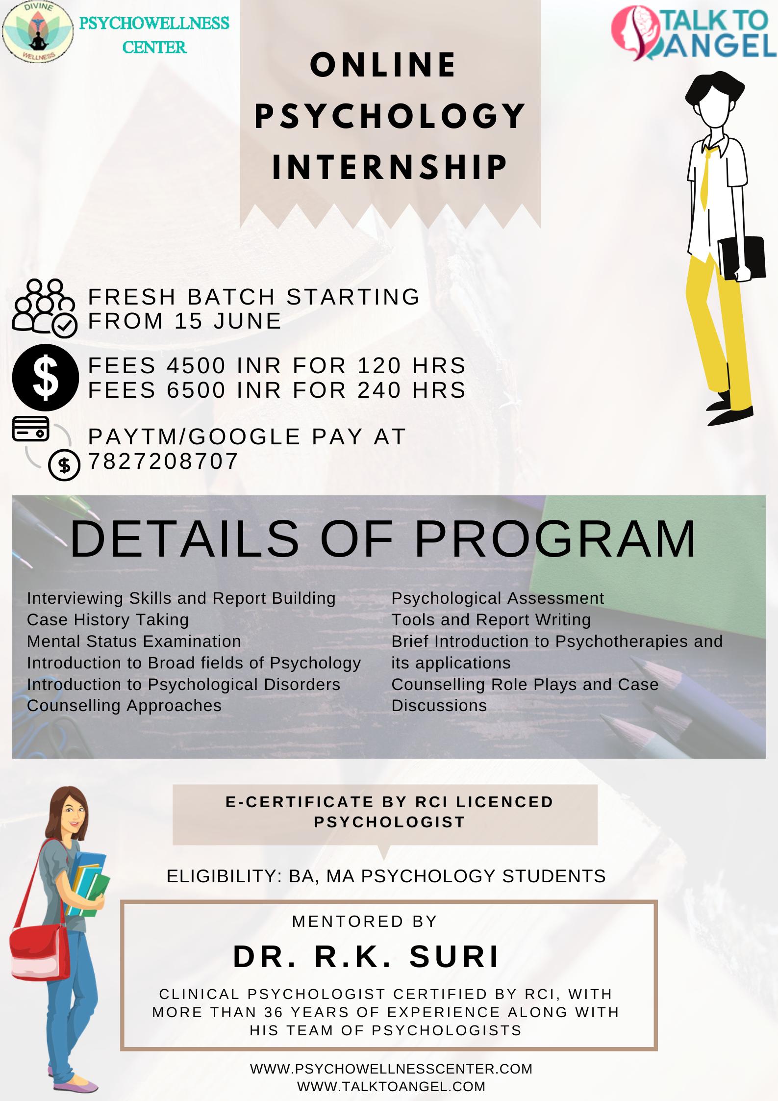 Online Psychology Internship In 2020 Psychology Student Internship Program Online Therapy