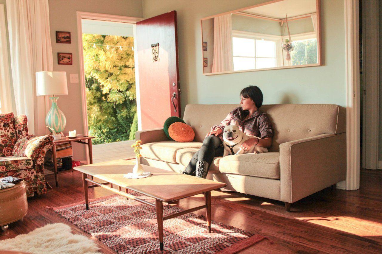 Eva Jason S Charming Portland Bungalow Home Blue Rooms Craftsman Bungalows