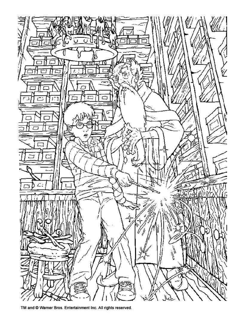 Printable Detailed Harry Potter Coloring Pages
