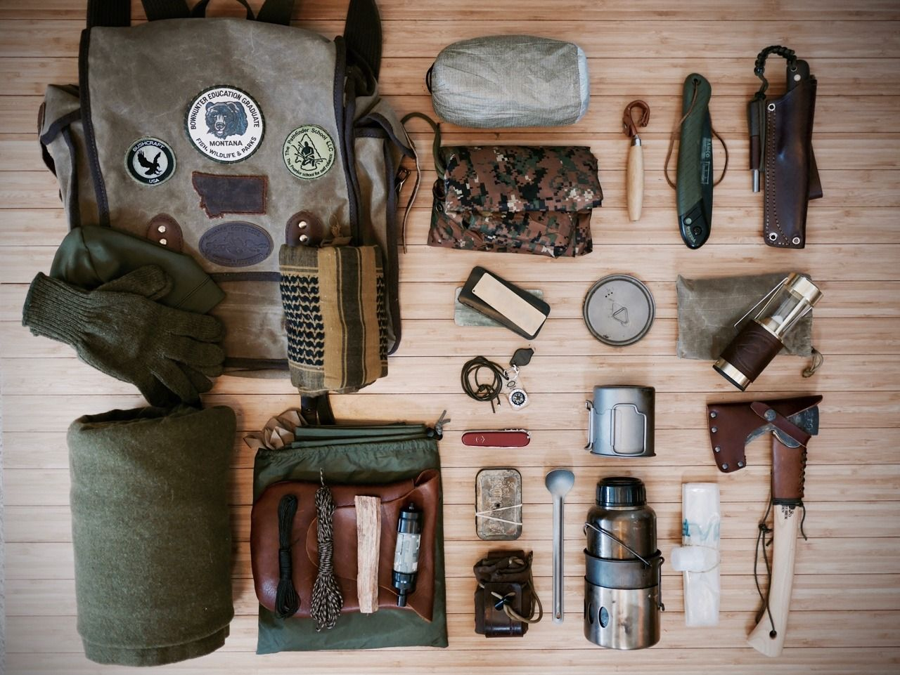 Good ol fashioned bushcraft kit knives and bushcraft for Backpacking fishing kit