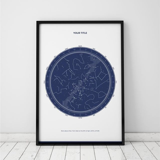 A New Map Style Is Available On Our Website The Circled Version Has Been Inspired By Old Star Charts We Find It Stunning Wh Lucky Star Star Chart Star Map