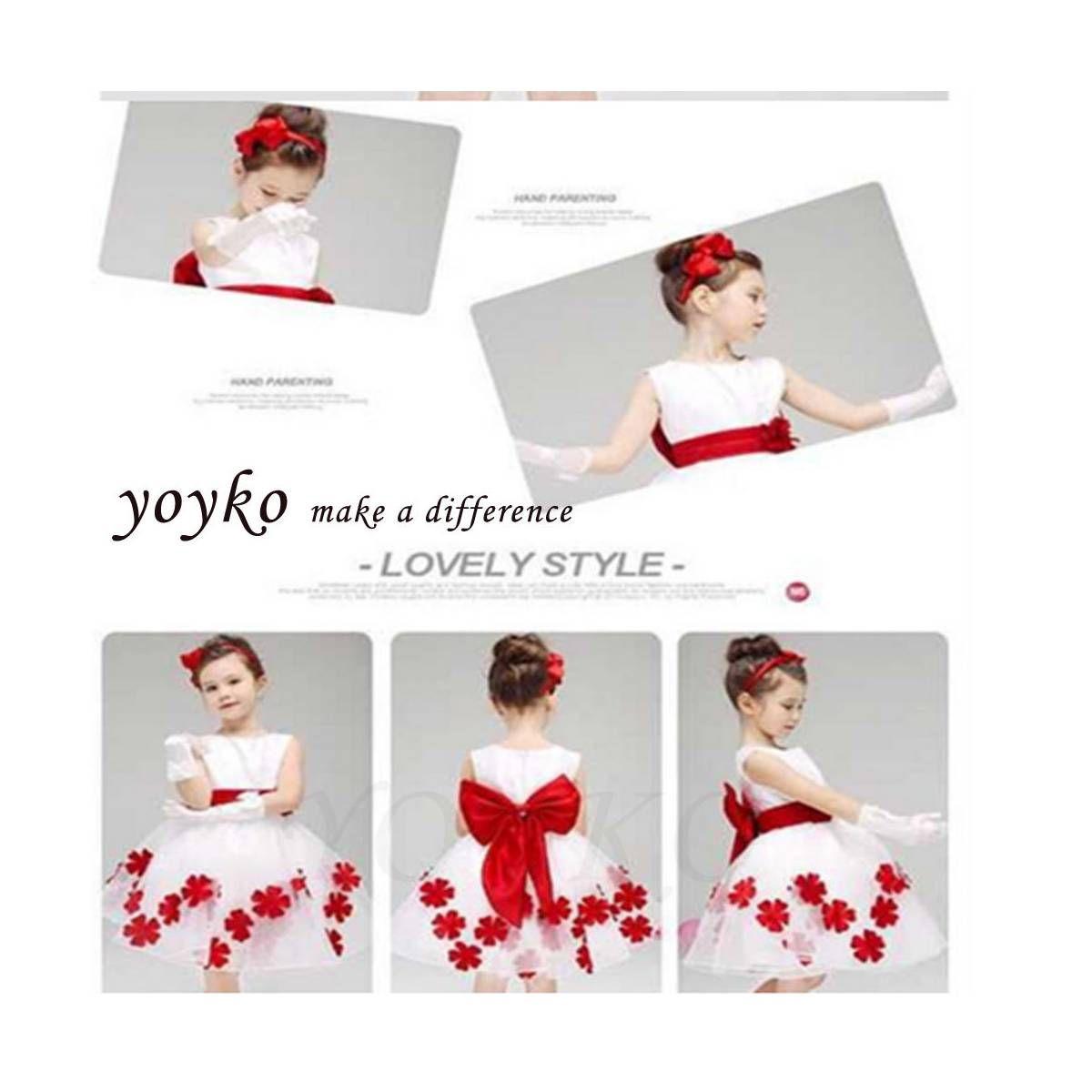 da24c0d5d087e Kirmizi çiçek Beyaz üstü Fransiz Dantel Kiz çocuk Elbise T GittiGidiyor'da  330544172