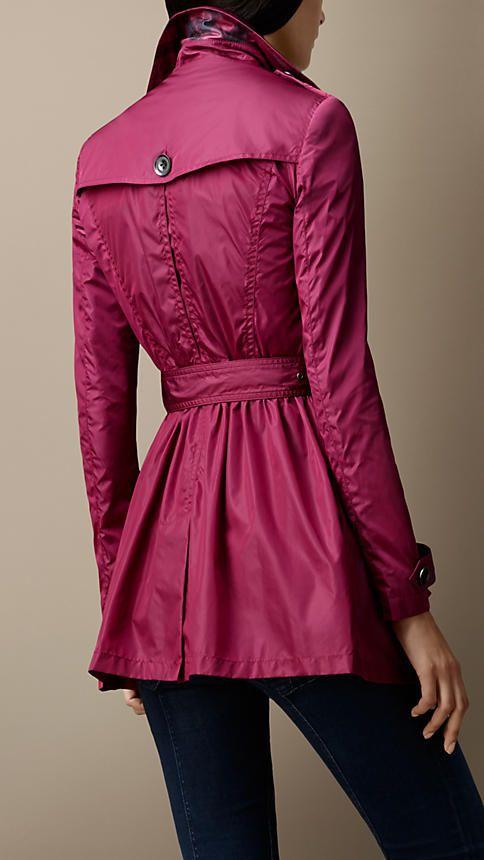 Short Gathered-Waist Trench Coat | Burberry