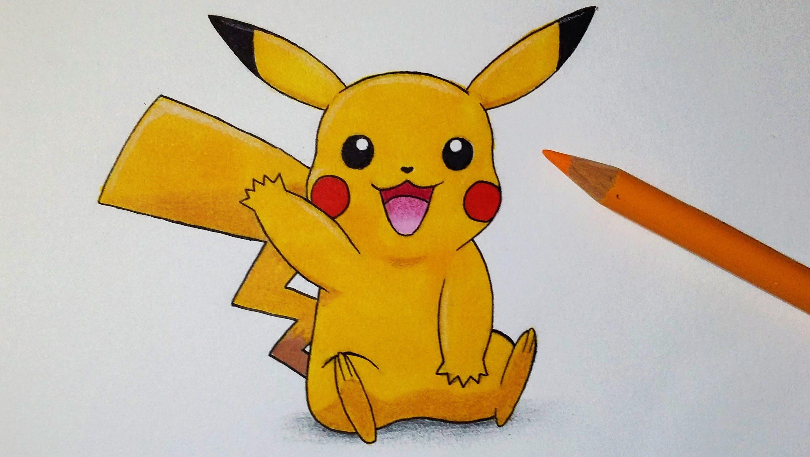 Comment dessiner Pikachu Tutoriel | Dessin pikachu, Comment dessiner pikachu, Coloriage pikachu