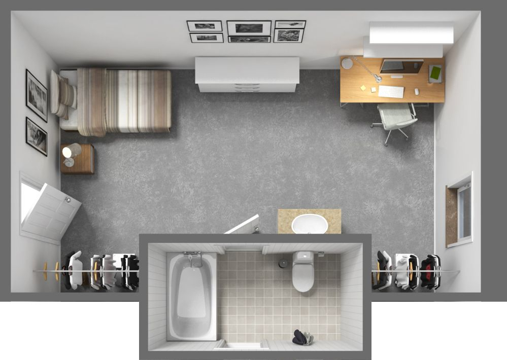 Naismith Hall Offers A Spacious Single Floor Plan At The