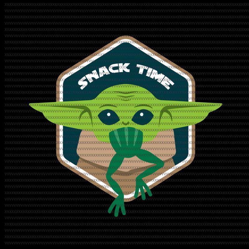 Snack Time svg, The Mandalorian The Child svg , Baby Yoda