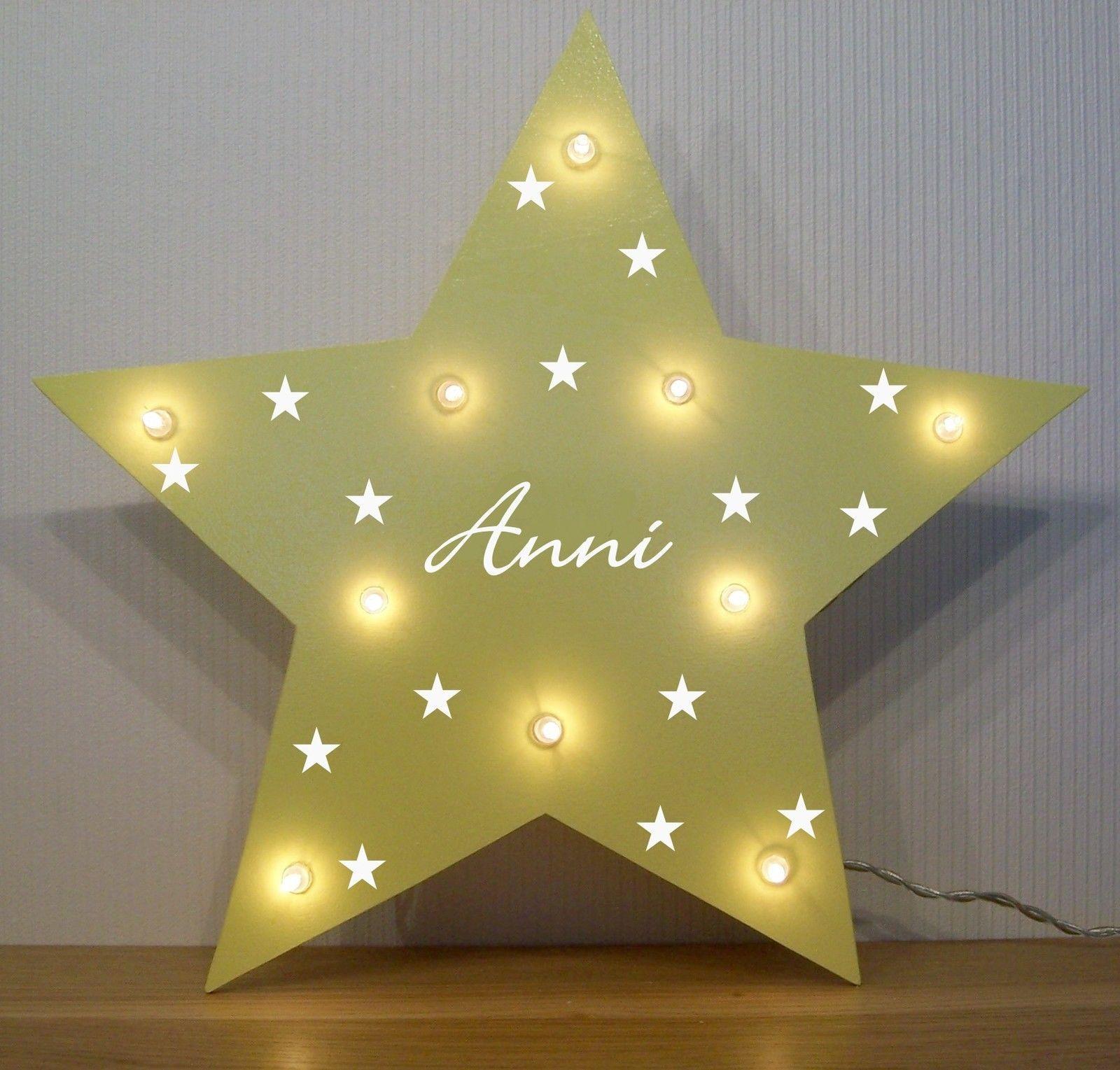 Nachtlicht Kleine Sterne Lampe Geschenk Baby Geburt Taufe Personalisiert Led Ebay Wohnideen Dekoration Geschenke Nachtlicht Kinderzimmer