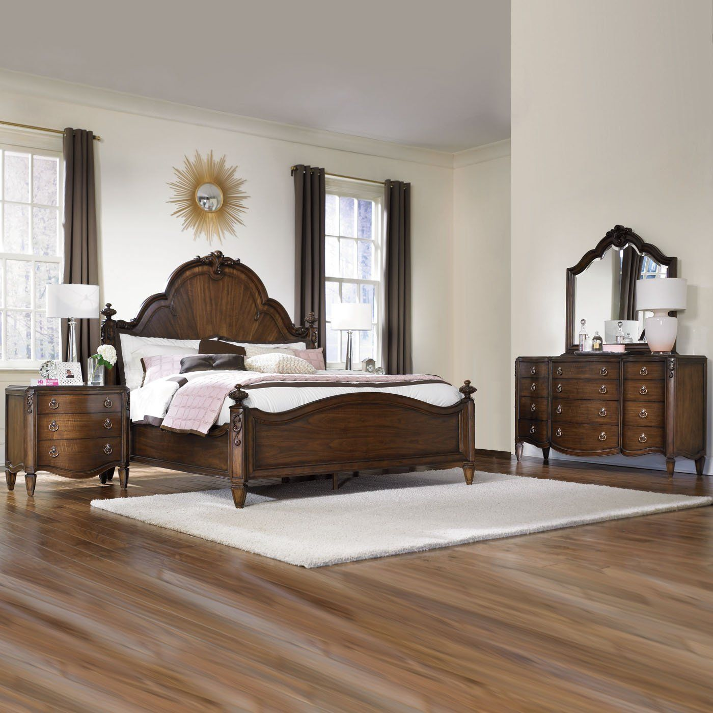 American Drew Jessica Mcclintock Couture Mansion Bedroom Set Home Furniture Showroom