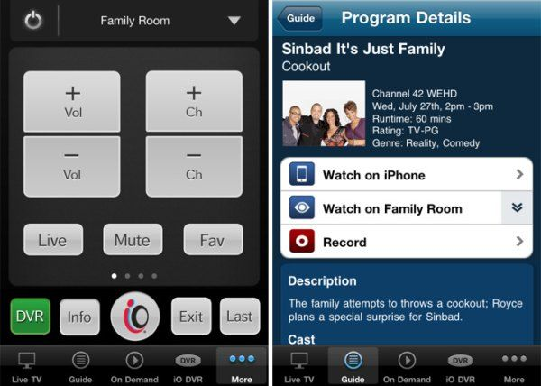 Cablevision S Optimum App Hits 2 0 Brings Cable Tv Streaming To Iphone Ipod Touch Streaming Tv Iphone Watch Cable Tv