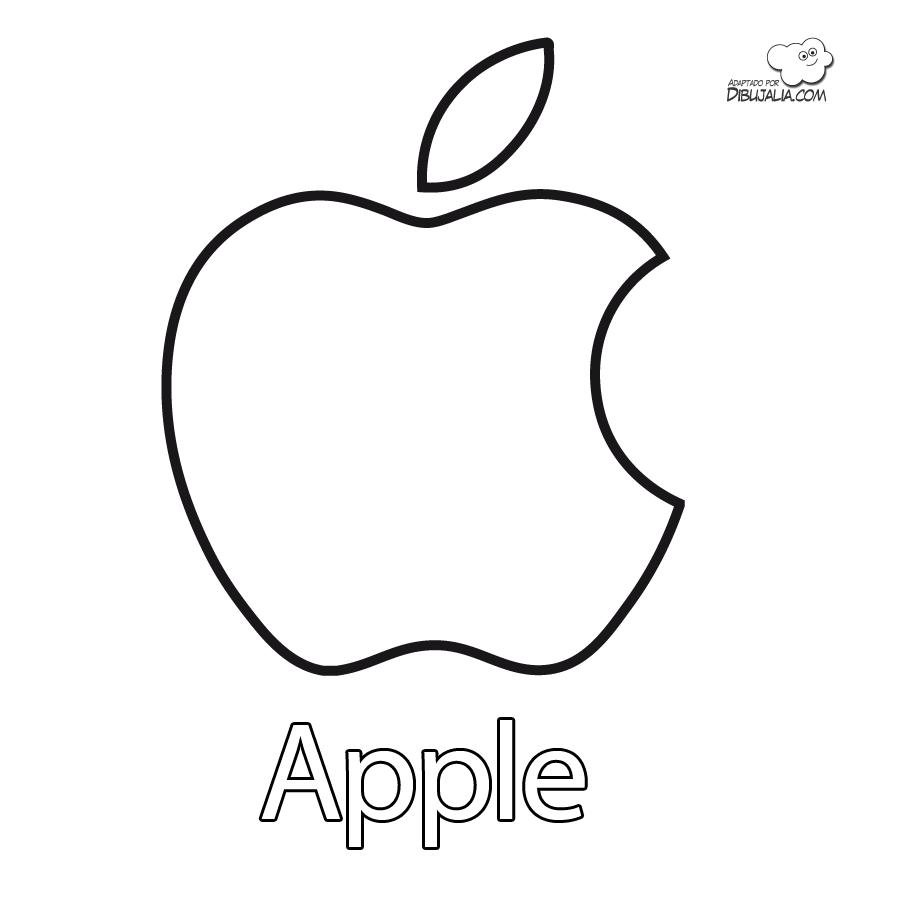 Logo Apple Dibujalia Dibujos Para Colorear Elementos Y Objetos Del Entorno Tecnologia Dibujos Para Colorear Materiales De Dibujo Etiquetas Para Regalo