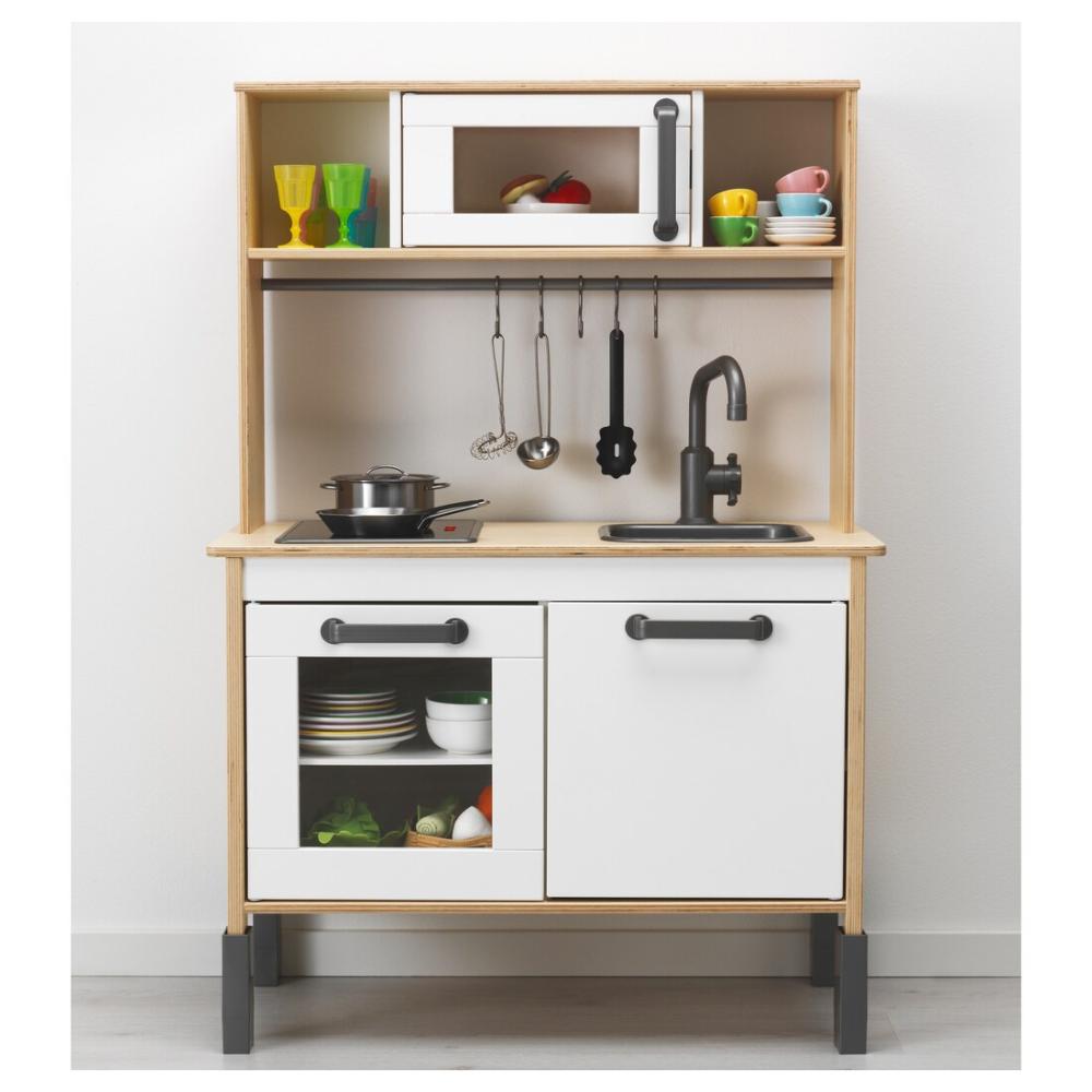 "DUKTIG Play kitchen, birch, 28 3/8x15 3/4x42 7/8"" IKEA"