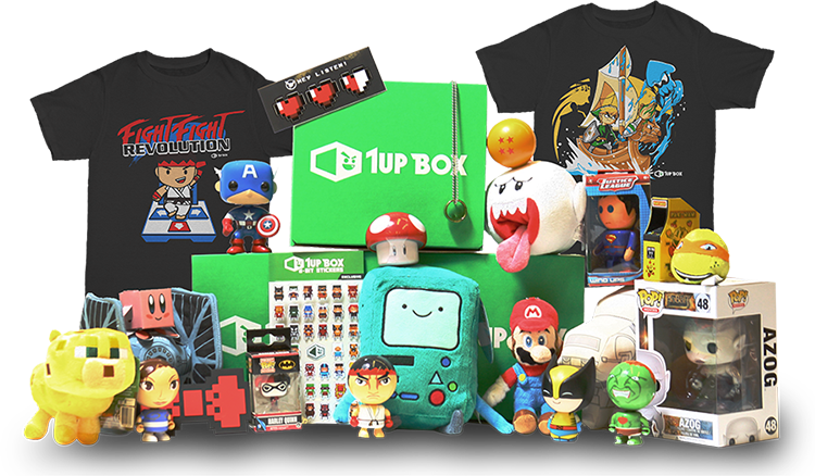 Monthly subscription box of awesome tshirts, collectible