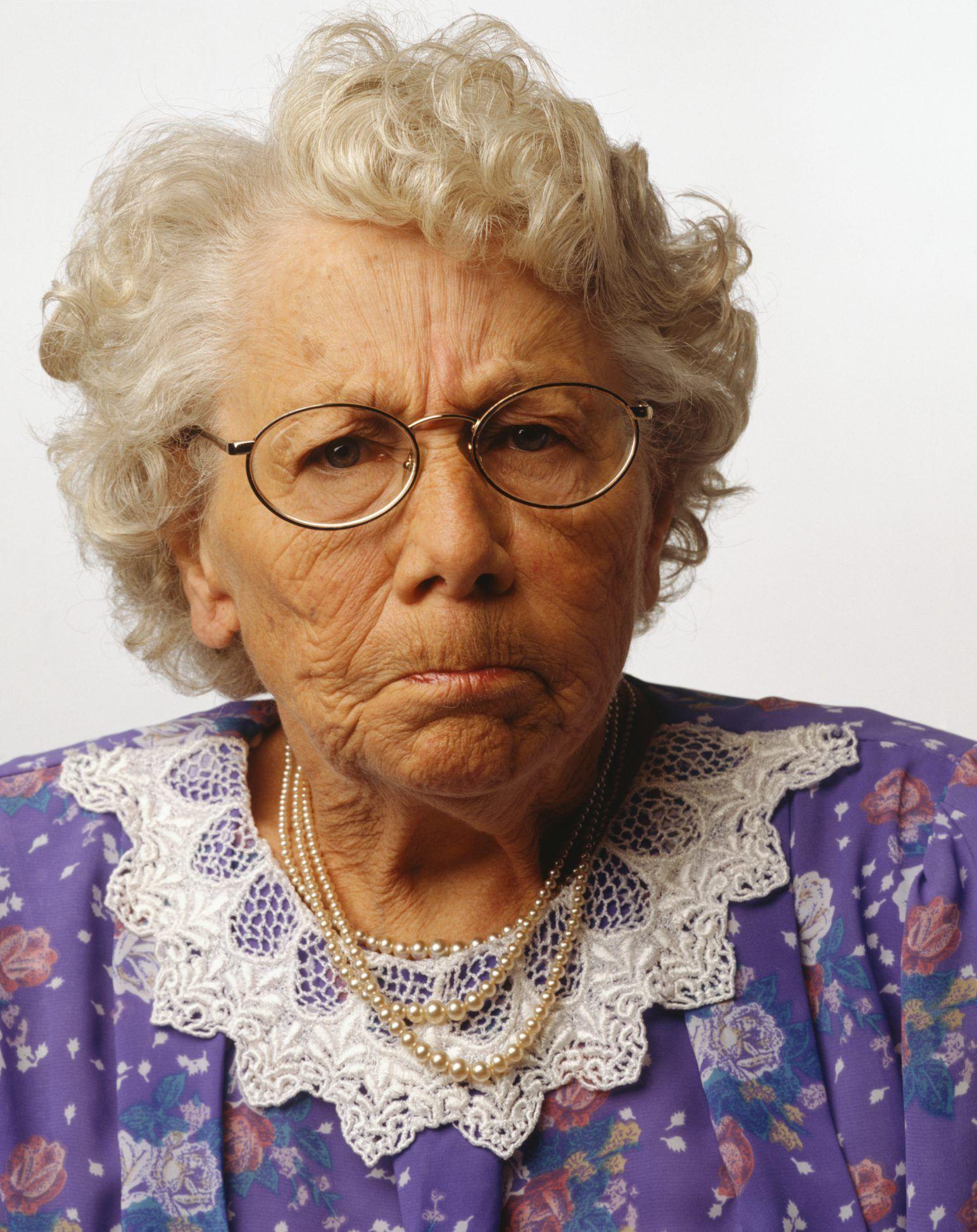 Old lady saggy boobs
