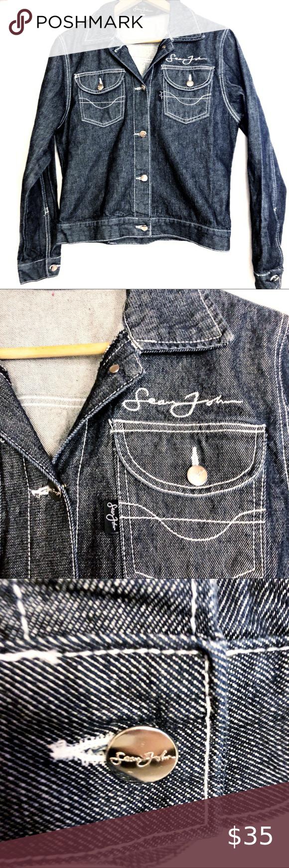 Sean John Denim Jean Jacket Button Front Md Sean John Dark Wash Denim Jean Jacket Button Front Sean Vintage Denim Jacket Denim Jean Jacket Grey Denim Jacket [ 1740 x 580 Pixel ]