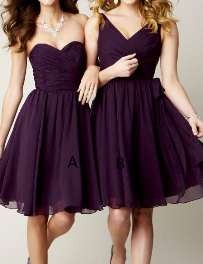 Schöne A-Linie Herzform Ausschnitt Mini Brautjungfernkleid mit ...