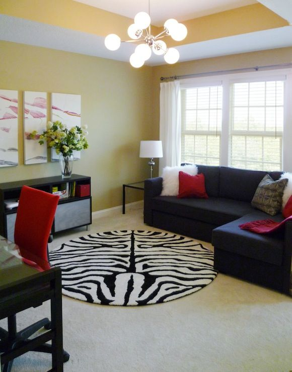 Yellow Black Red White Decor Home Living Room Yellow Living Room Yellow Home Decor