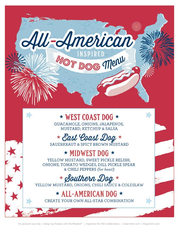 Free printables all american county fair july 4th party for 4th of july menu template