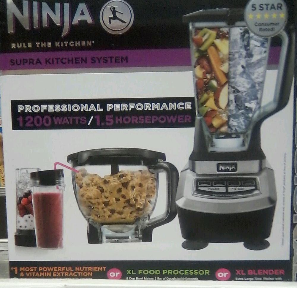 Ninja Supra Kitchen System 1200 Watts Ninja Supra Kitchen System Bl780 1200 Watts New Sealed In Box Ebay Food Processor Recipes Blender Food