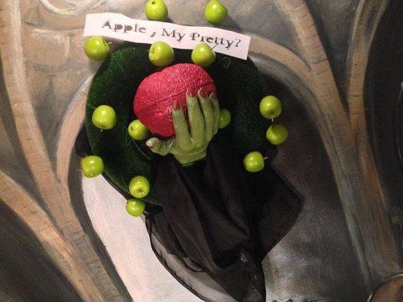 Poison an Apple  Halloween Wreath by BarryBelcherArt on Etsy