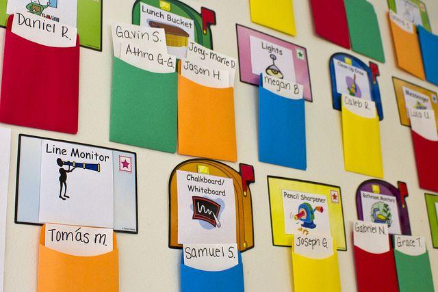 Modular Classroom Jobs ~ Free printable classroom helpers organize your