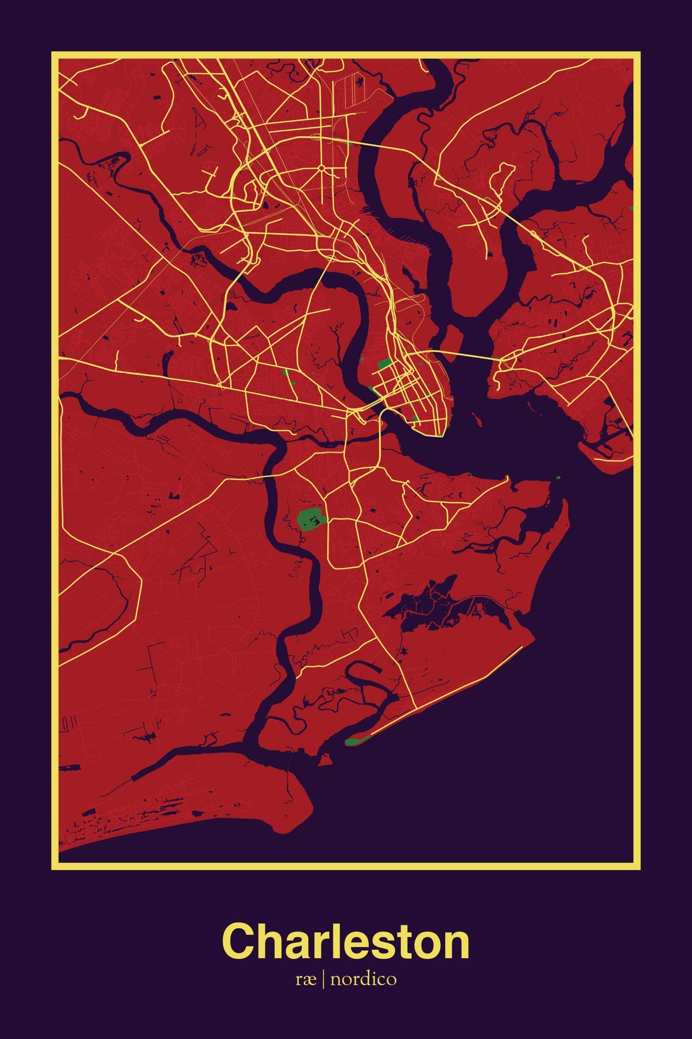charleston usa map print nearby pinterest charleston usa