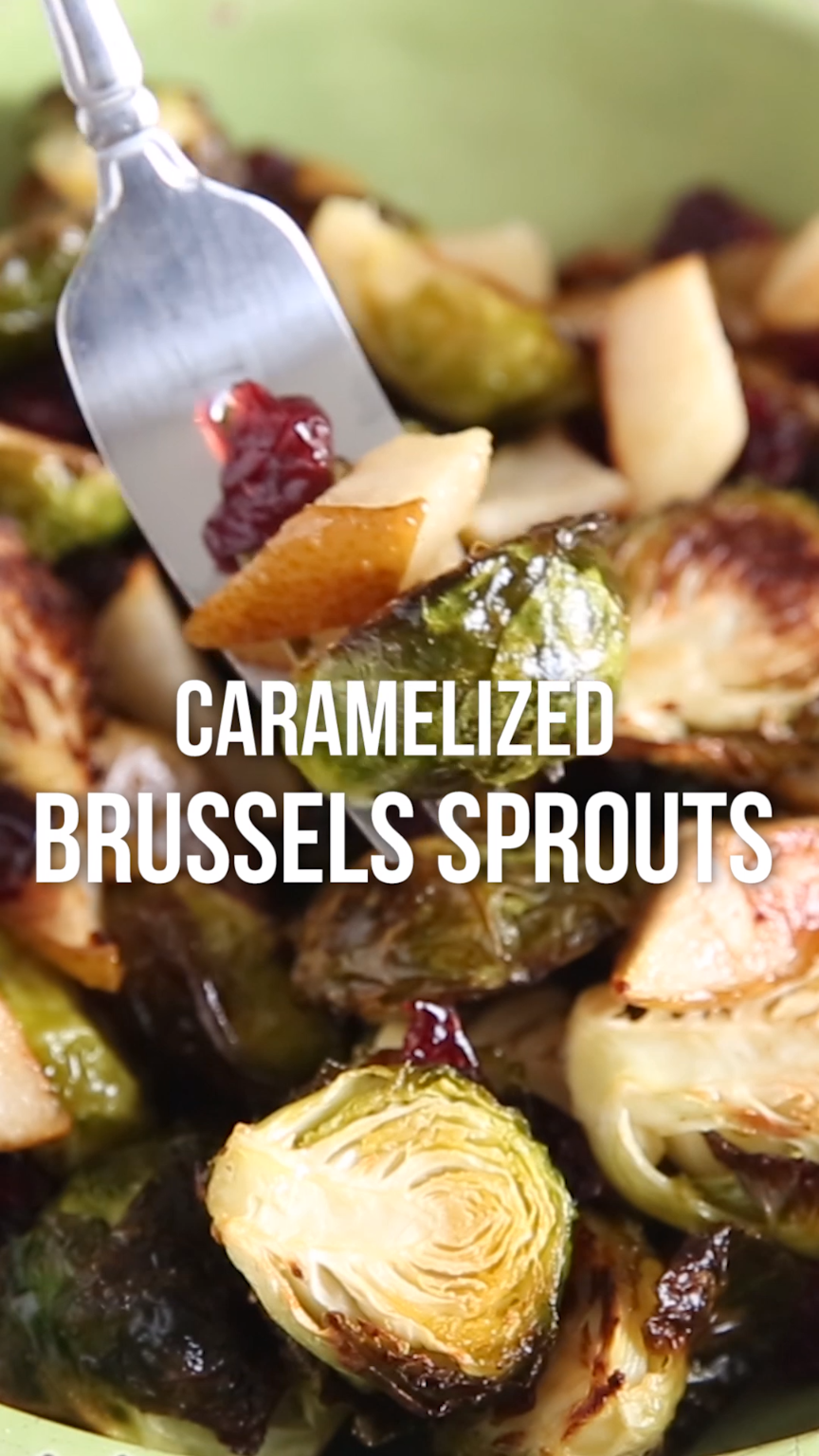 Roasted Brussels Sprouts With Pears And Cranberries