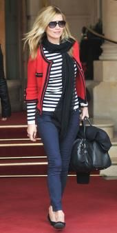 stripes and blazer