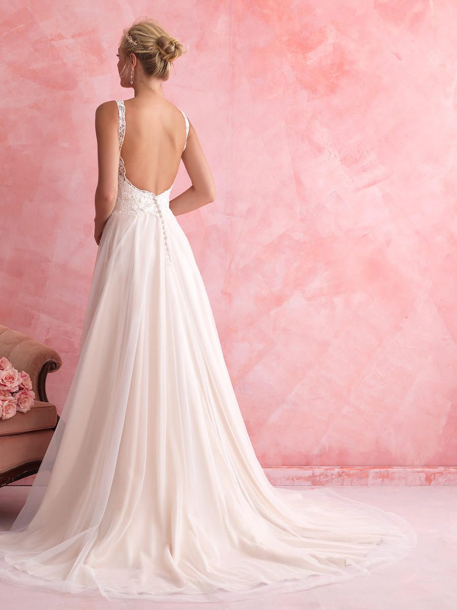 Breathtaking Allure Bridals Romance wedding gown. A-line lace, low ...