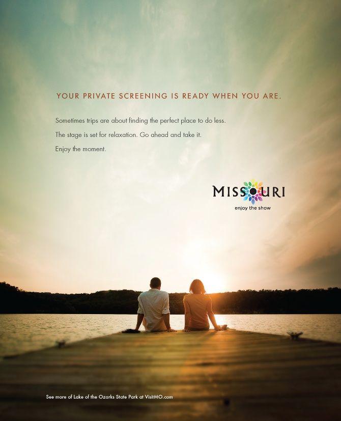 """Missouri Tourism """"Enjoy the Show"""" Campaign. Agency: H&L ..."""