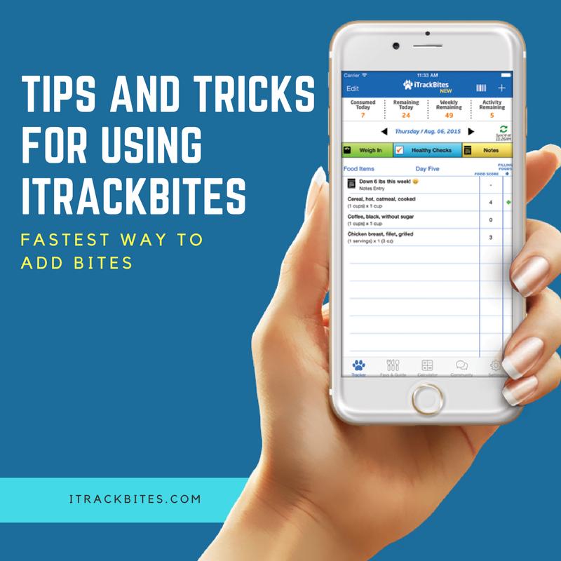 I Track Bites >> The Fastest Way We Recommend To Add Bites Is To 1 Click From