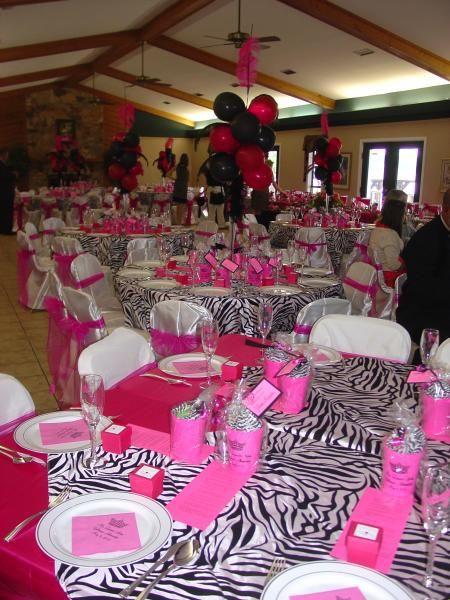 Quiencera decorations fushcia pink and zebra print gallery the ultimate hot pink zebra print wedding junglespirit Images