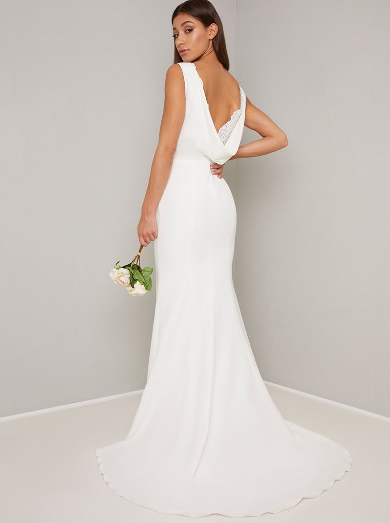 32+ Cowl neck wedding dress ideas information