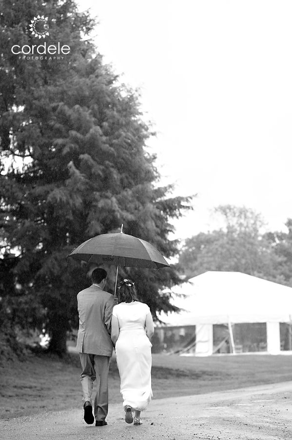 Codman Estate Rainy Day Wedding Photos