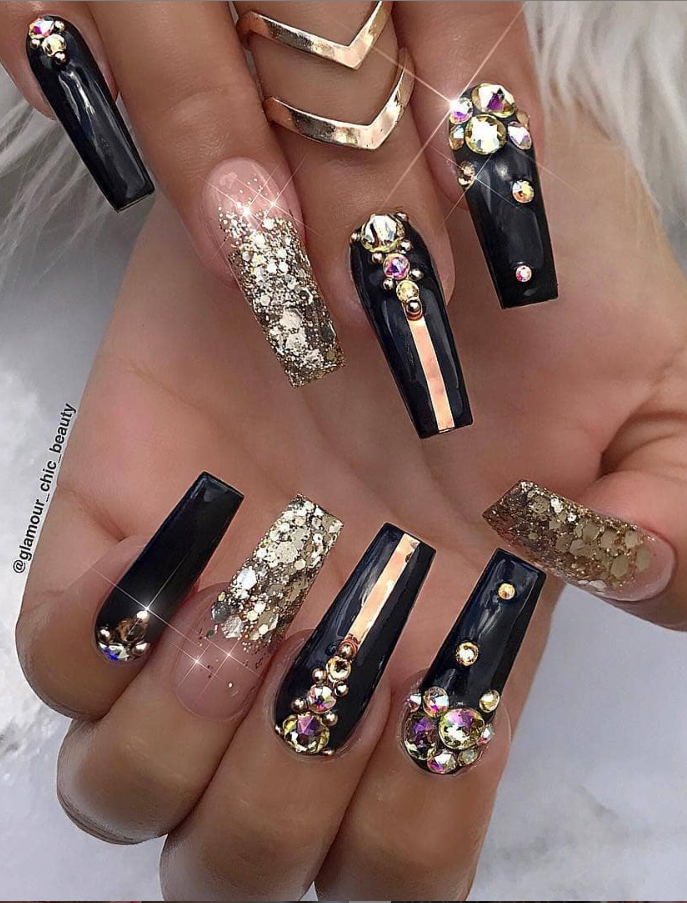60 Bling Acrylic Coffin Nails Design With Rhinestones Page 10 Of 60 Coffin Nails Designs Bling Acrylic Nails Nails Design With Rhinestones,Faith Beautiful Tattoo Designs For Women