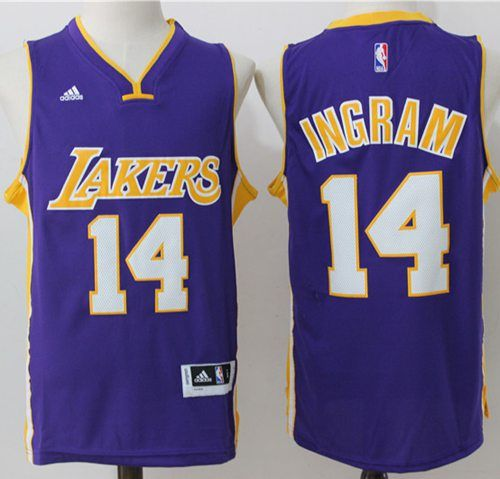 afba2a254f7 Lakers #14 Brandon Ingram Purple Stitched NBA Jersey | NBA | NBA ...